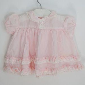 Nannette Baby Girl Pink Ruffle Dress